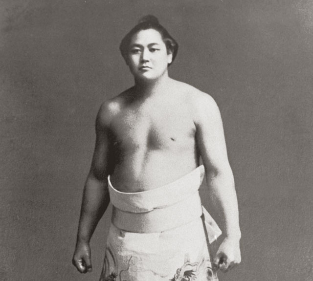 Famous sumo wrestler Tenryu in his prime (1903-1989)