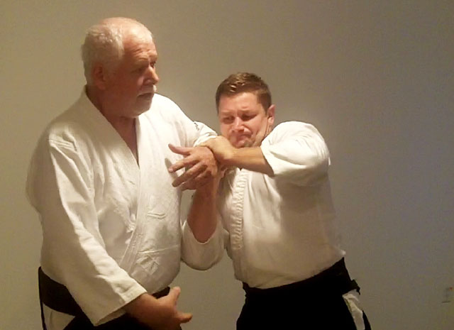 André Cognard Sensei conducting a class at the Las Vegas Aiki Juku