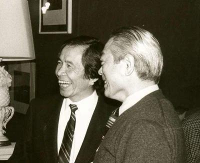 Nobuyoshi Tamura meeting Hirokazu Kobayashi in Europe