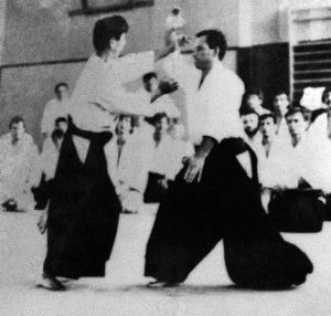 Christian Tissier as uke for Seigo Yamaguchi Sensei c. 1974
