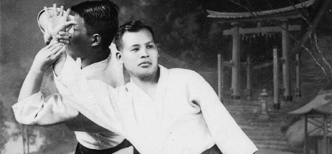 Yoichiro Inoue, Morihei Ueshiba's nephew in studio portrait c1935