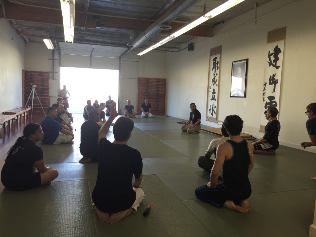 Stan asking a question at Ikazuchi Dojo's Knife Knowledge Workshop