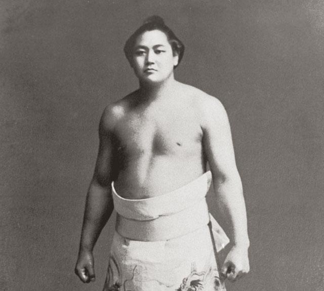 Famous sumo wrestler Tenryu in his prime (1903-1989)