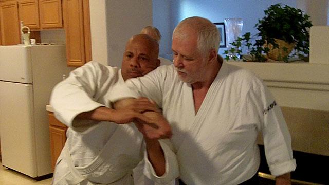 Cognard Sensei at Las Vegas Aikido Juku. Uke: Gil Wheeler