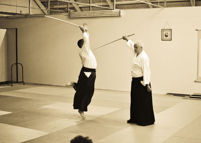 Cognard Sensei executing upper sword cut