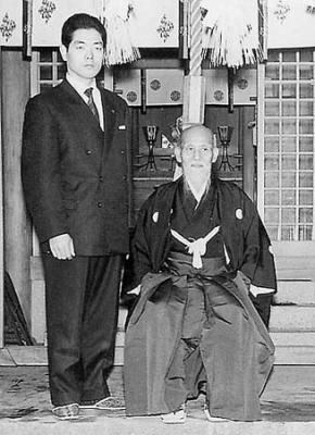Formal portrait of Founder with Kobayashi Sensei c. 1960