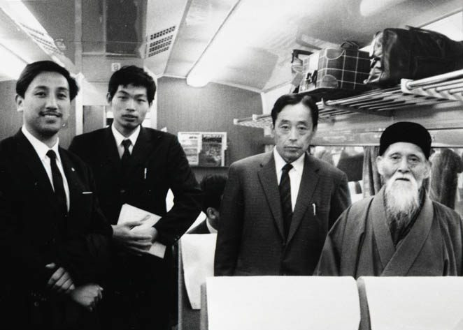 O-Sensei traveling with Abe Sensei - c 1965