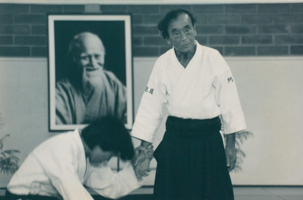 Abe Sensei throwing Matsuoka Sensei at a seminar in Los Angeles in the 1990s.