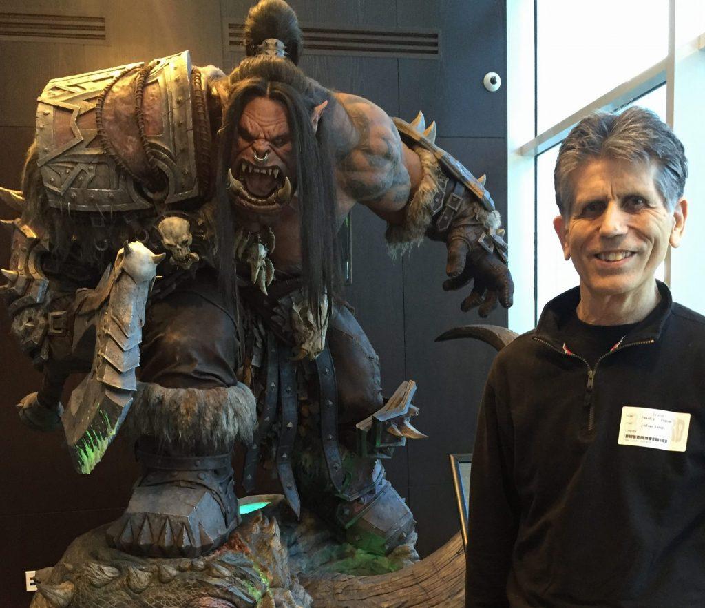 Stan at Blizzard Entertainment with Grommash Hellscream