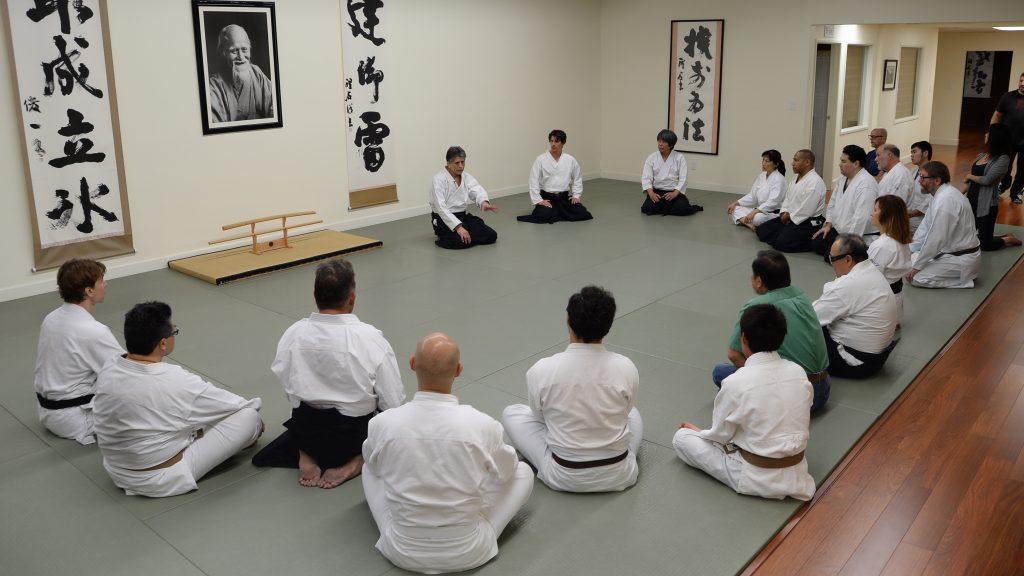 Stan Pranin Sensei talking with Ikazuchi Dojo students