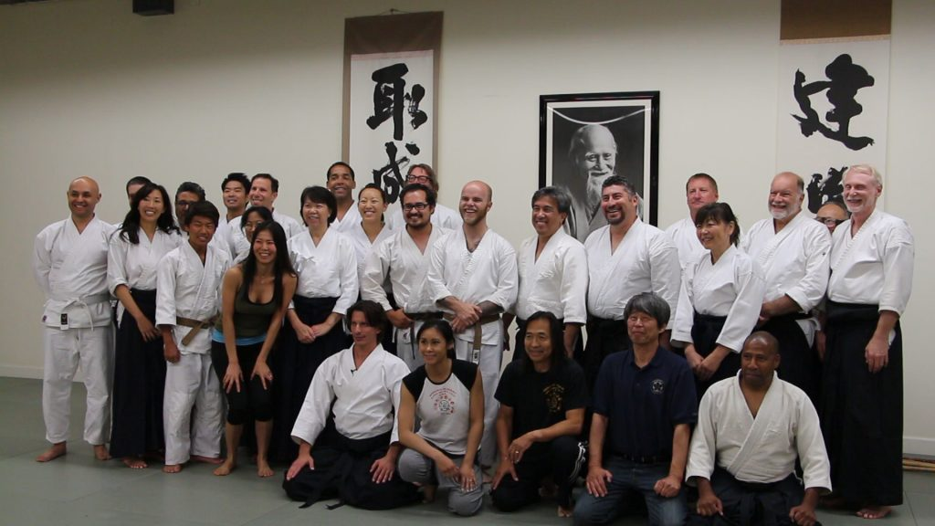 "Group photo at Jeff Imada's ""show and tell"" session at Ikazuchi Dojo."